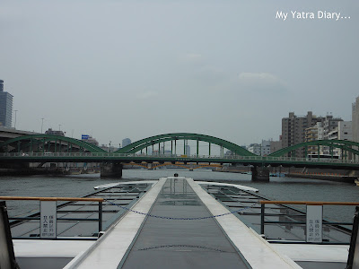 Sumida river cruise, Tokyo starts