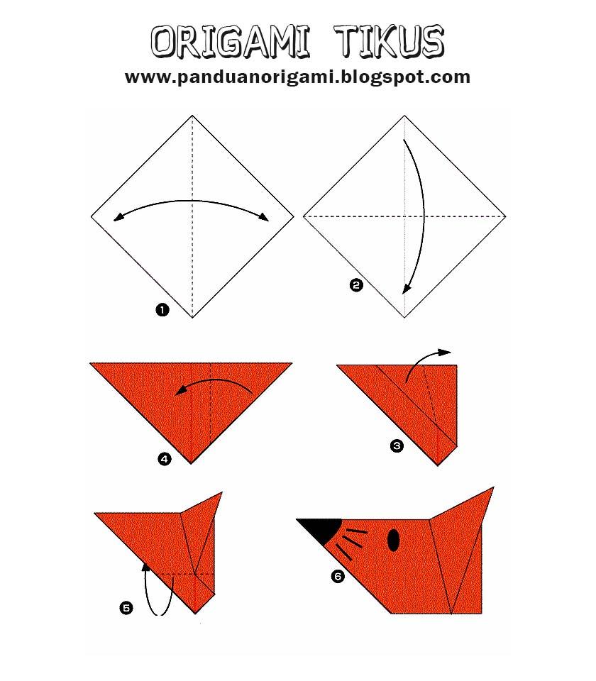 Cara Membuat Origami Tikus Panduan Belajar Membuat Origami