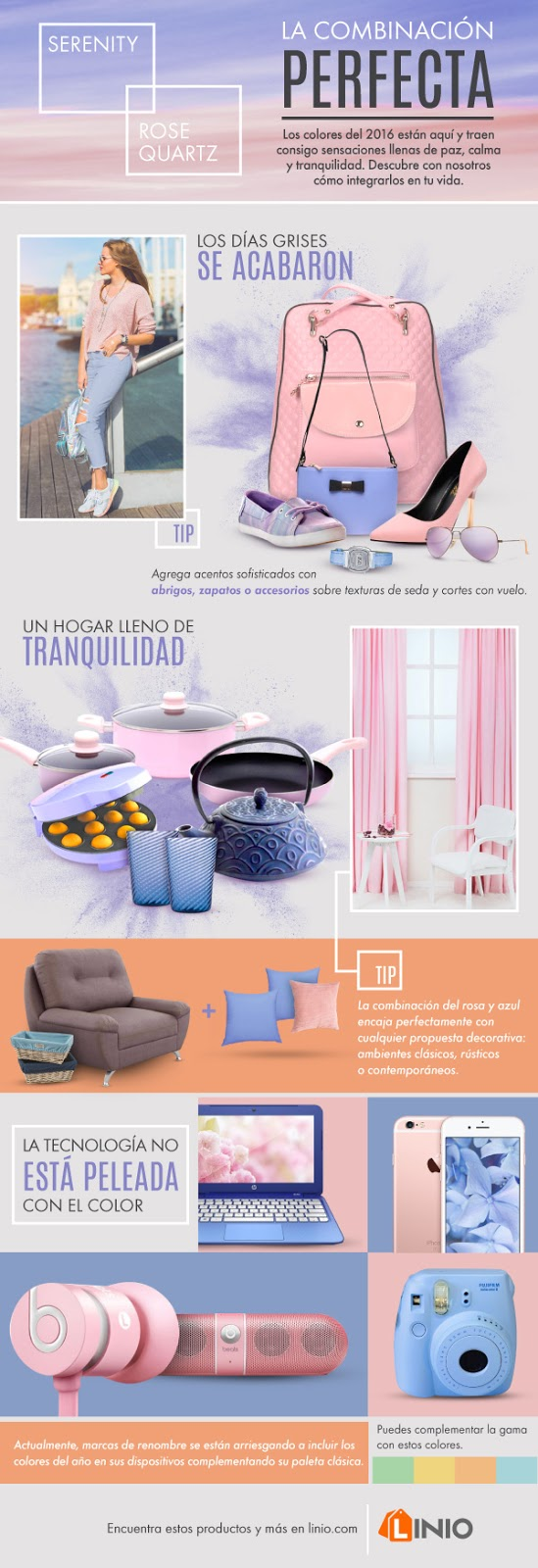 how to mix Rose Quartz y Serenity