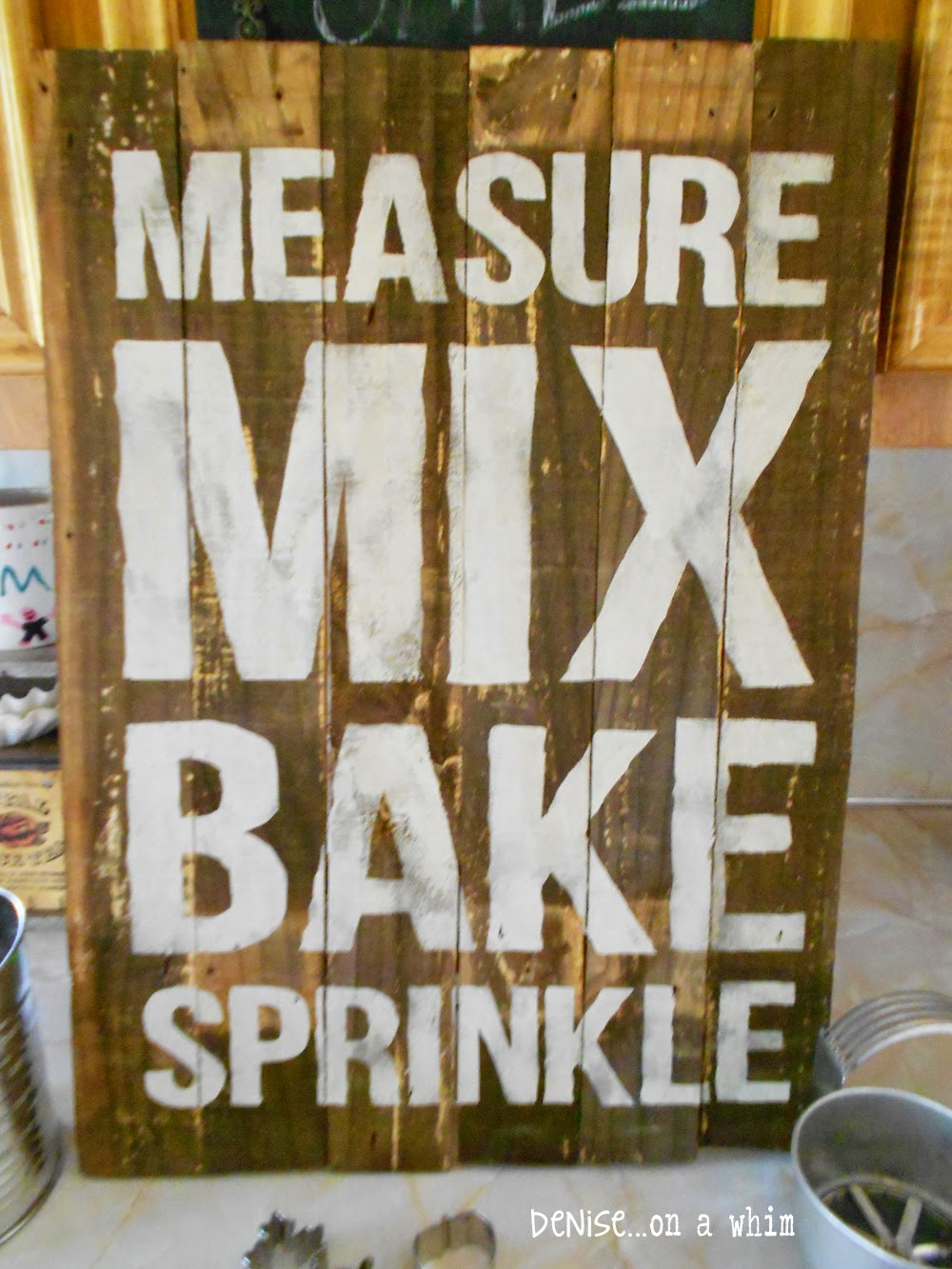 Packing Crate Baking Sign from Denise on a Whim