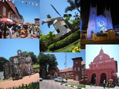 Tempat-tempat menarik di Melaka...