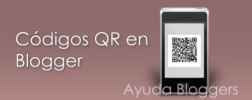 Añadir códigos QR en las entradas de Blogger