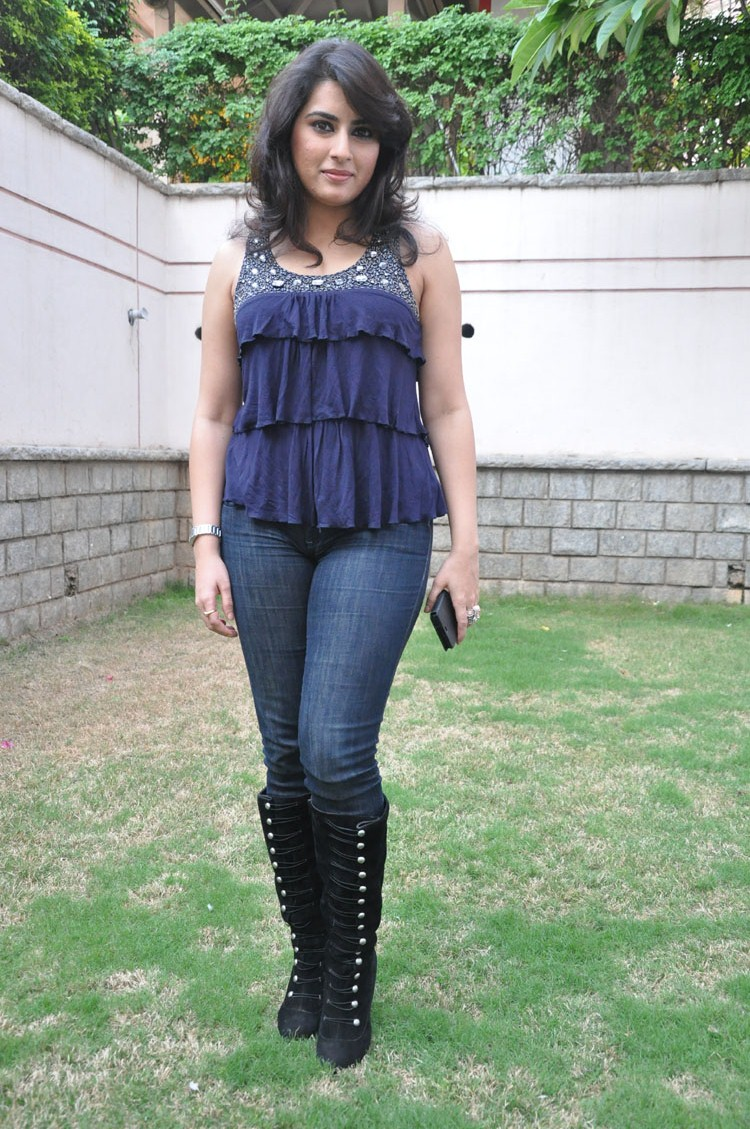 Archana Latest Stills in Blue Dress