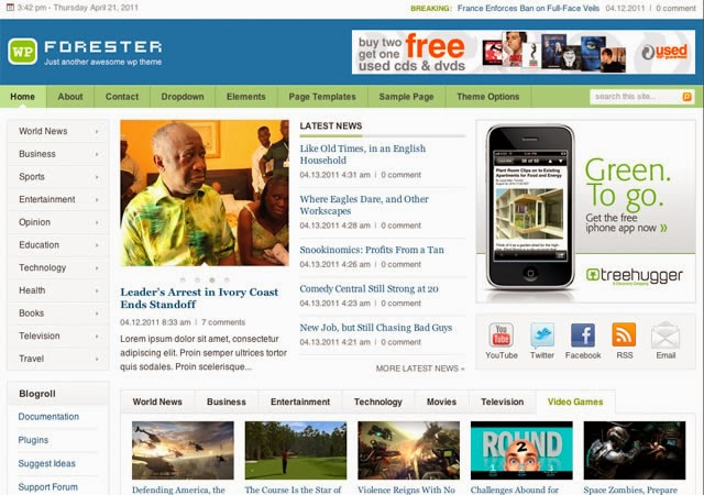 Forester Blogger Template
