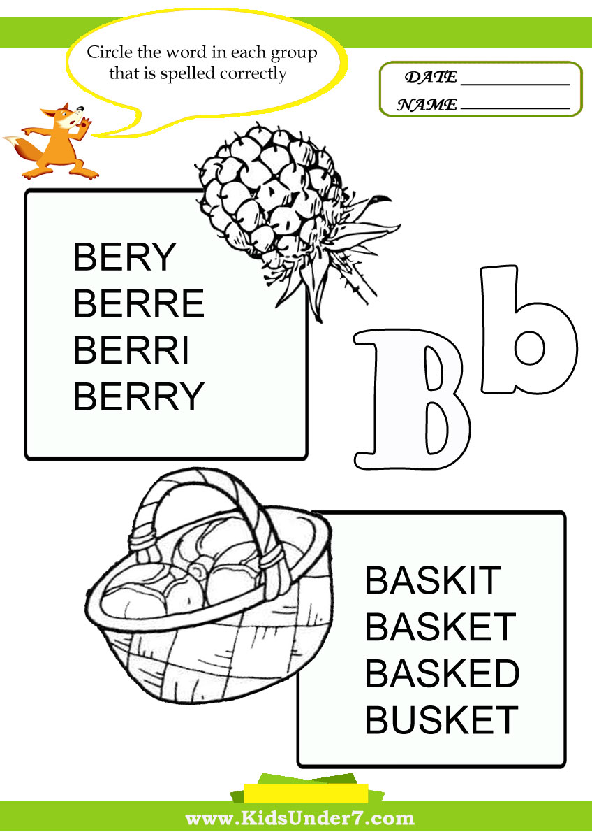 b words coloring pages - photo#45