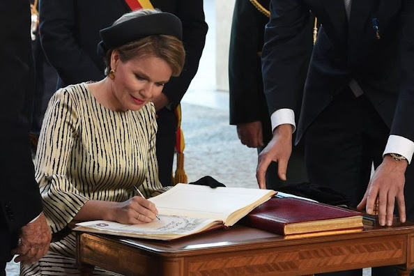 Queen Mathilde of Belgium attended the 30,000th 'Last Post' ceremony at the Menin Gate