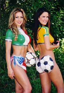 Soccer Art Body Painting World Cup 2014
