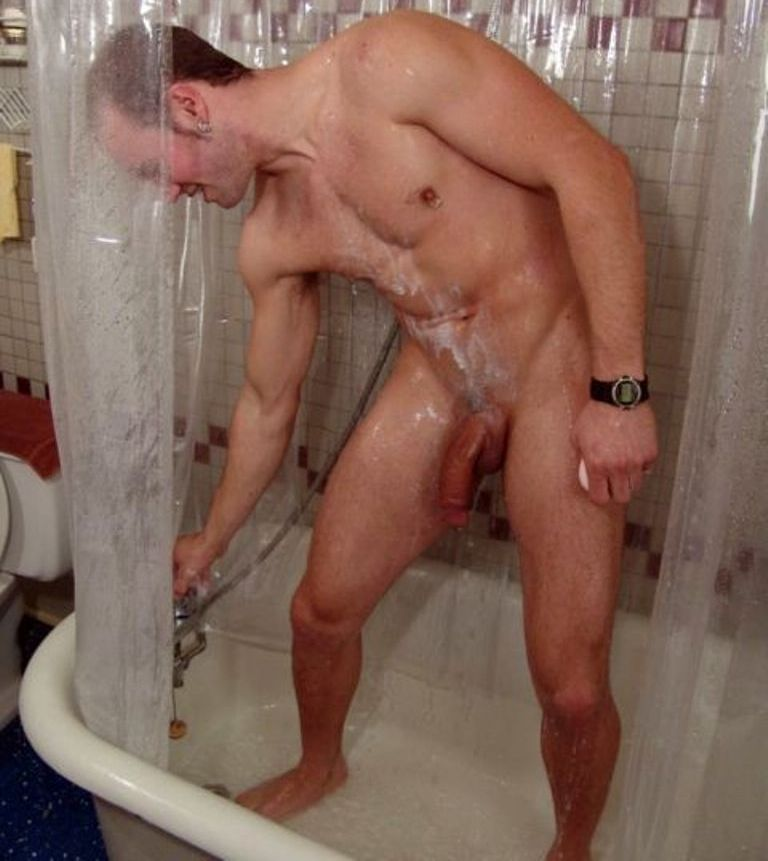 Like A Horse Hung Guys In Shower