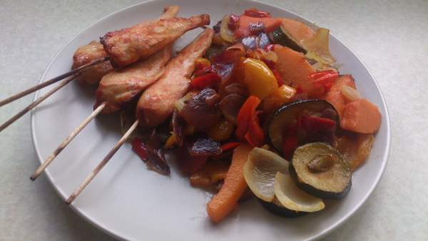 Chicken And Mediterranean Vegetables