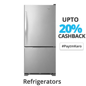 Paytm : Buy Refrigerators, Washing Machines, TVs & ACs Flat Rs. 10000 Cashback : Buytoearn