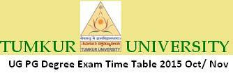 Tumkur University Exam time table 2016 Oct Nov Dec