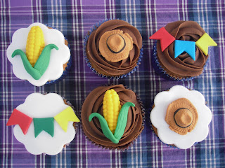 Cupcake Junino decorado - My Lovely Cake