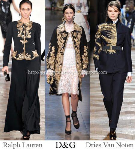 златни бродерии в стил барок