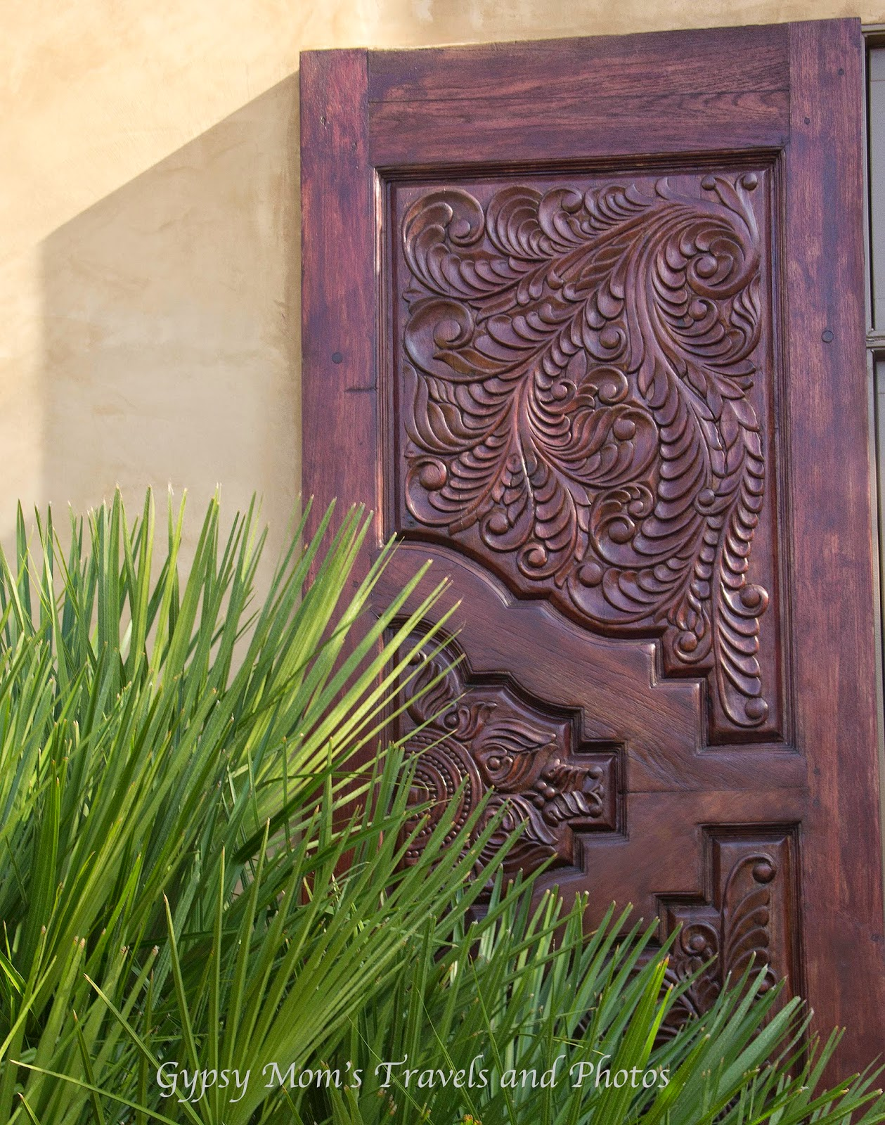 Wood decorations on a house in Corona del Mar