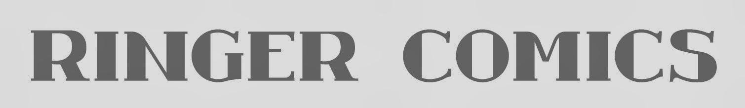 Ringer Publishing - Ringer Comics font / logo design 1960's - Curio & Co. www.curioandco.com - Design by Cesare Asaro