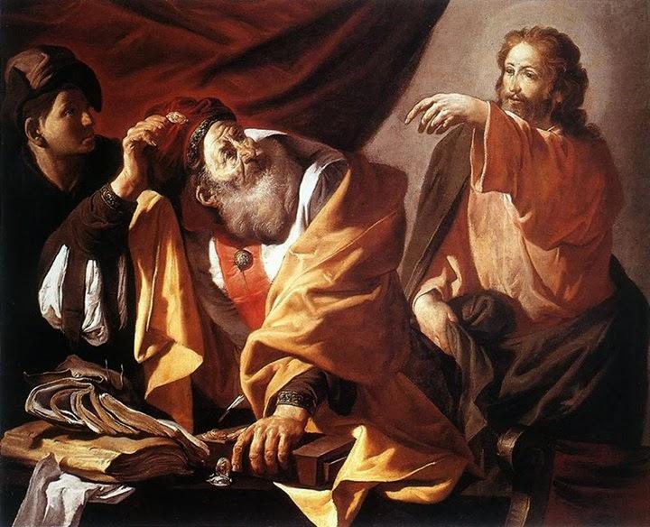 Znalezione obrazy dla zapytania jezus ujrzał człowieka imieniem Mateusz