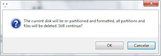 Pergunta do Bootice para continuar a formatação
