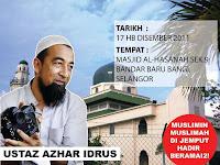Ustaz Azhar Idrus di Masjid Bandar Baru Bangi