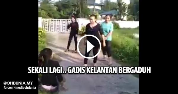 Video: Sekali lagi gadis Kelantan bergaduh, Kali ini ber'wrestling' pulak