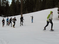 Championship snowshoe race north of Truckee