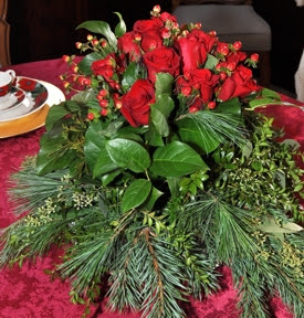 2014 Holiday Home Tour Table Arrangement