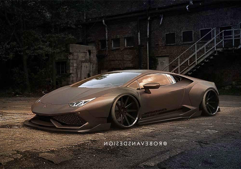 Lamborghini Huracan gold a Fighter Plane by Liberty Walk Resembles