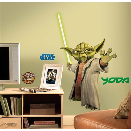 Yoda Glow in the Dark Giant Wall Decal