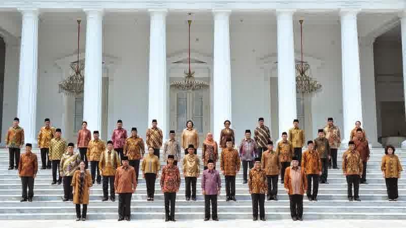 Pelantikan 34 Menteri Kabinet Kerja Jokowi JK 2014-2019