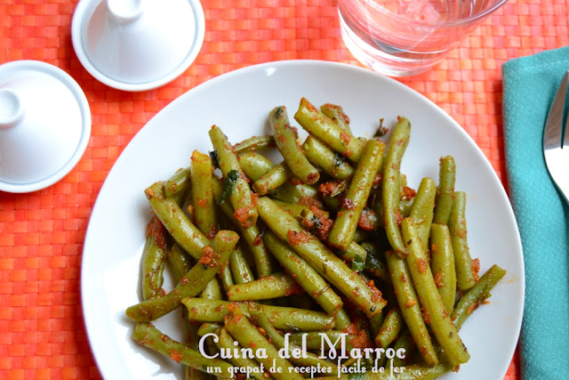 Mongeta verda a la chermoula
