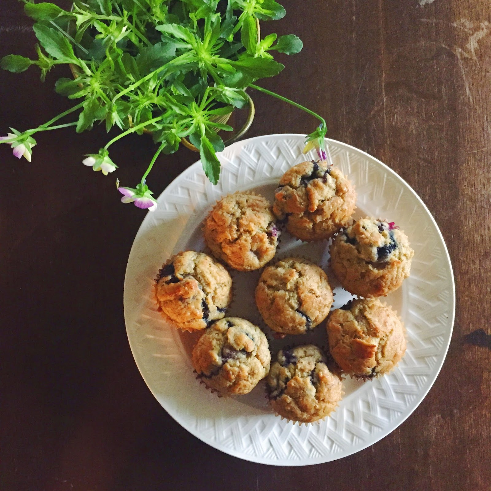 Muffins, Recipe, Blueberry-Banana, Breakfast