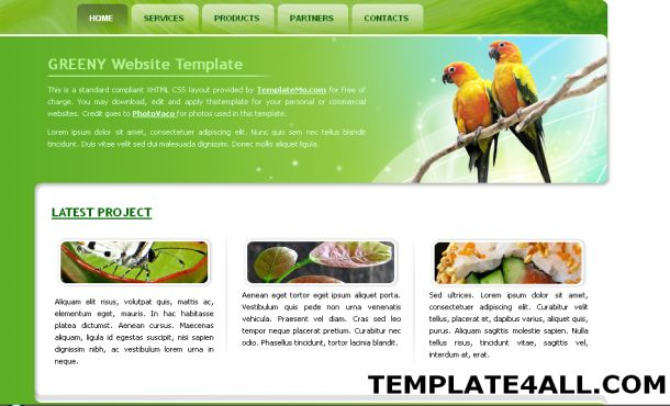 Green Nature Business CSS Website Template