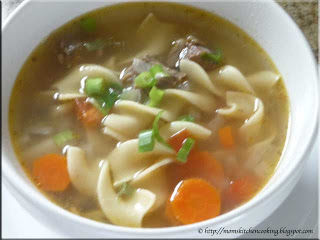 beef noodle soup made with leftover chuck 7-bone roast