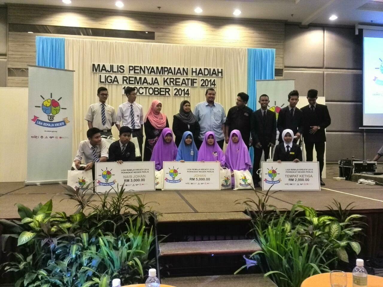 Keputusan Liga Remaja Kreatif 2014 (Zon Utara) Perlis