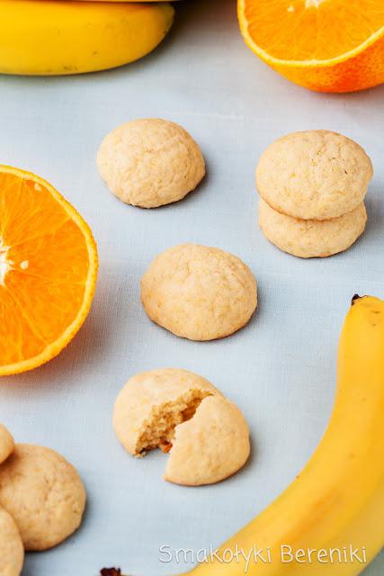 Ciasteczka bananowe z pomarańczą