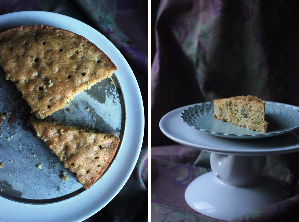 Squirrels-n-Sweets: Semolina Cake with Pistachios and Honey
