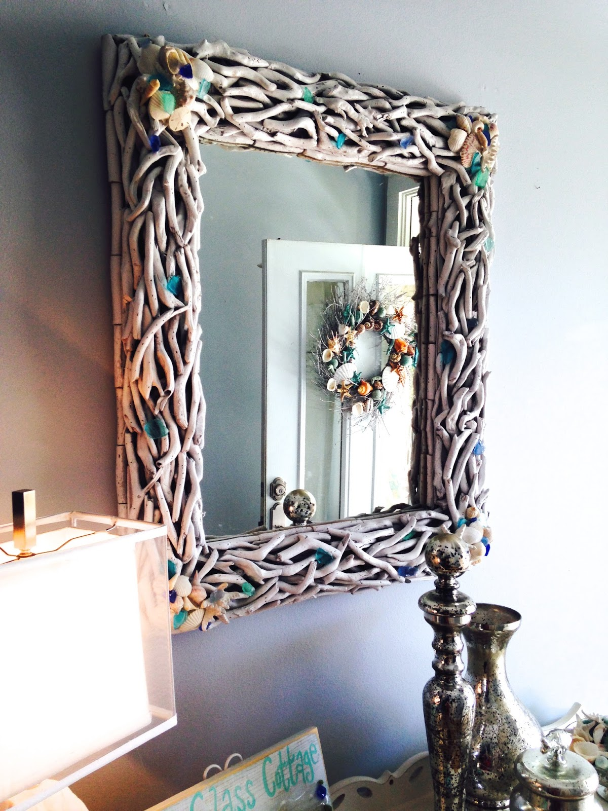 Sea Glass Cottage : Driftwood Mirror Makeover
