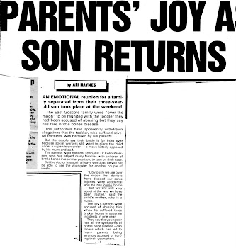 PARENTS JOY AS SON IS RETURNED