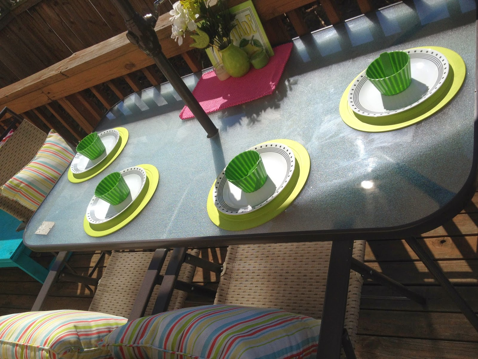 spring deck table setting