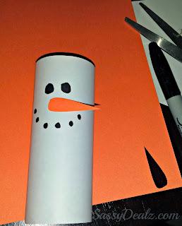snowman toilet paper roll kids craft
