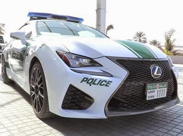 Lexus RC F Dubai Police