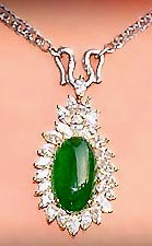 jade pendant and diamonds