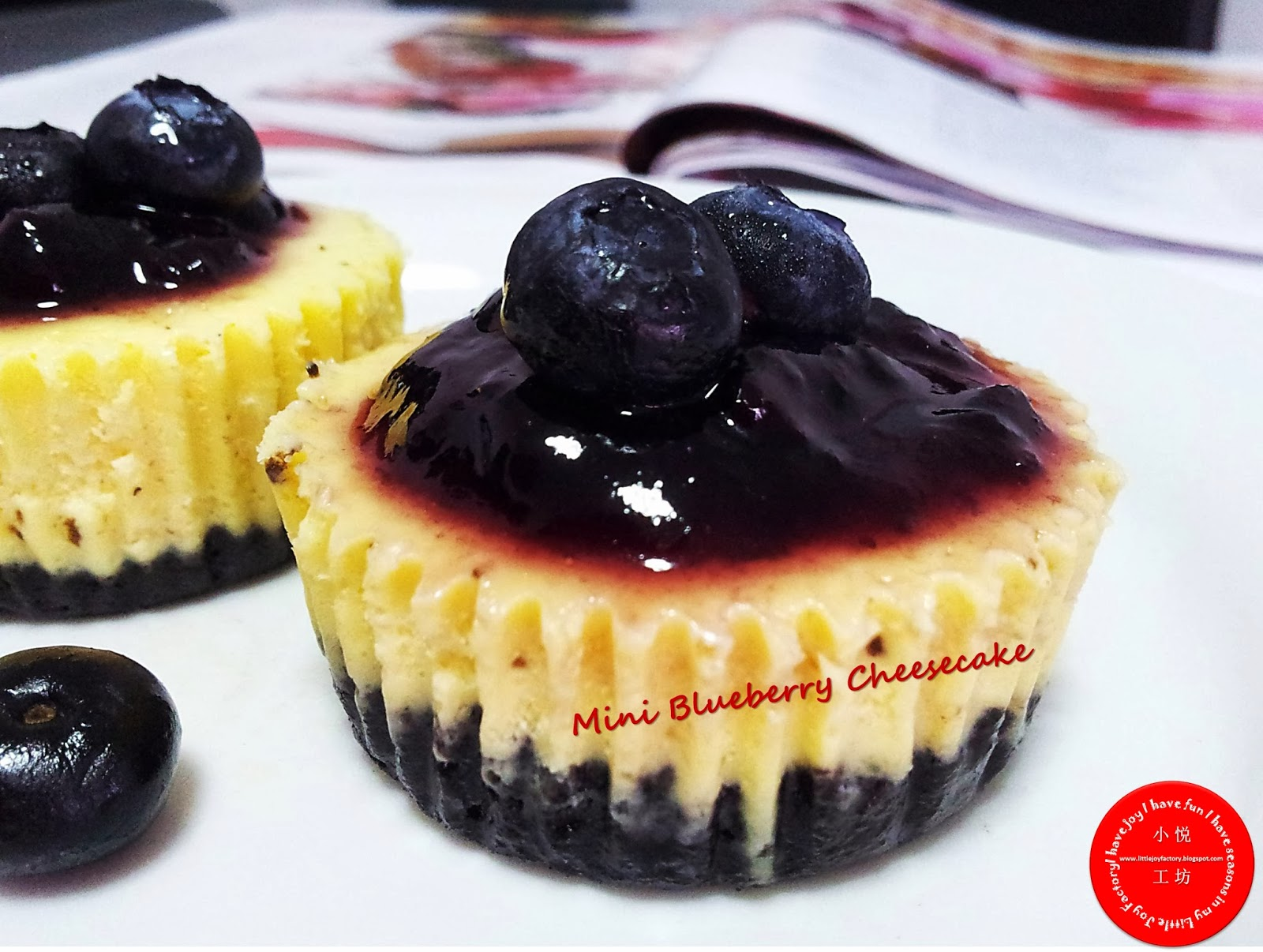Little Joy Factory: Mini Blueberry Cheesecake