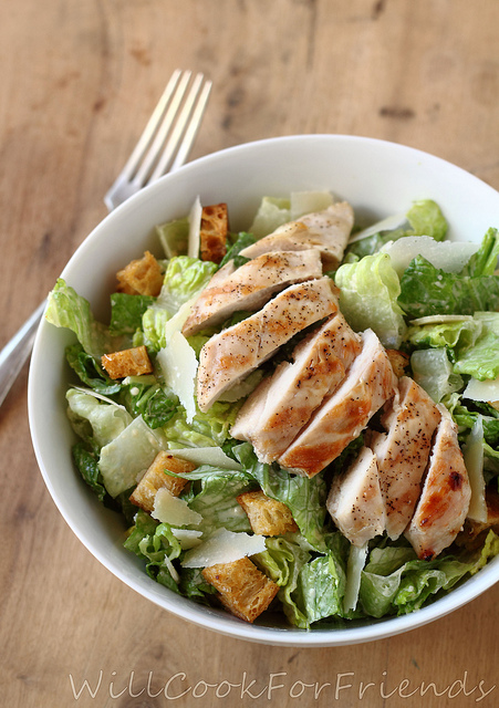 DJ in the Kitchen: Grilled Chicken Caesar Salad