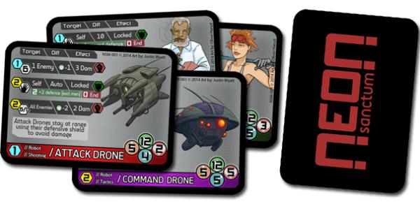 Neon Sanctum RPG NPC cards