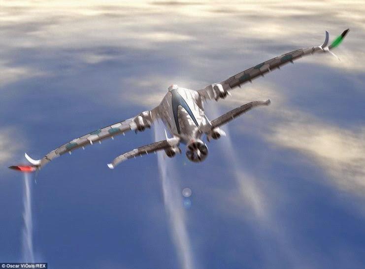 Ο πίσω κινητήρας μπορεί να μετατραπεί σε μια τουρμπίνα που παράγει ηλεκτρική ενέργεια από τον αέρα που ρέει μέσα από αυτό να βοηθήσει δύναμη του αεροσκάφους.