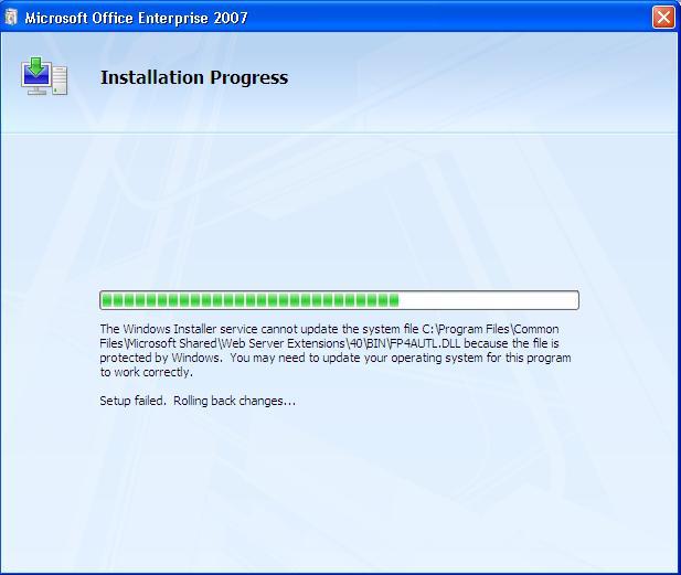 Microsoft Office 2007 Error Install di Netbook
