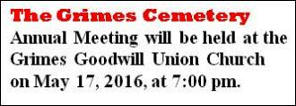 5-17 Grimes Cemetery Meeting