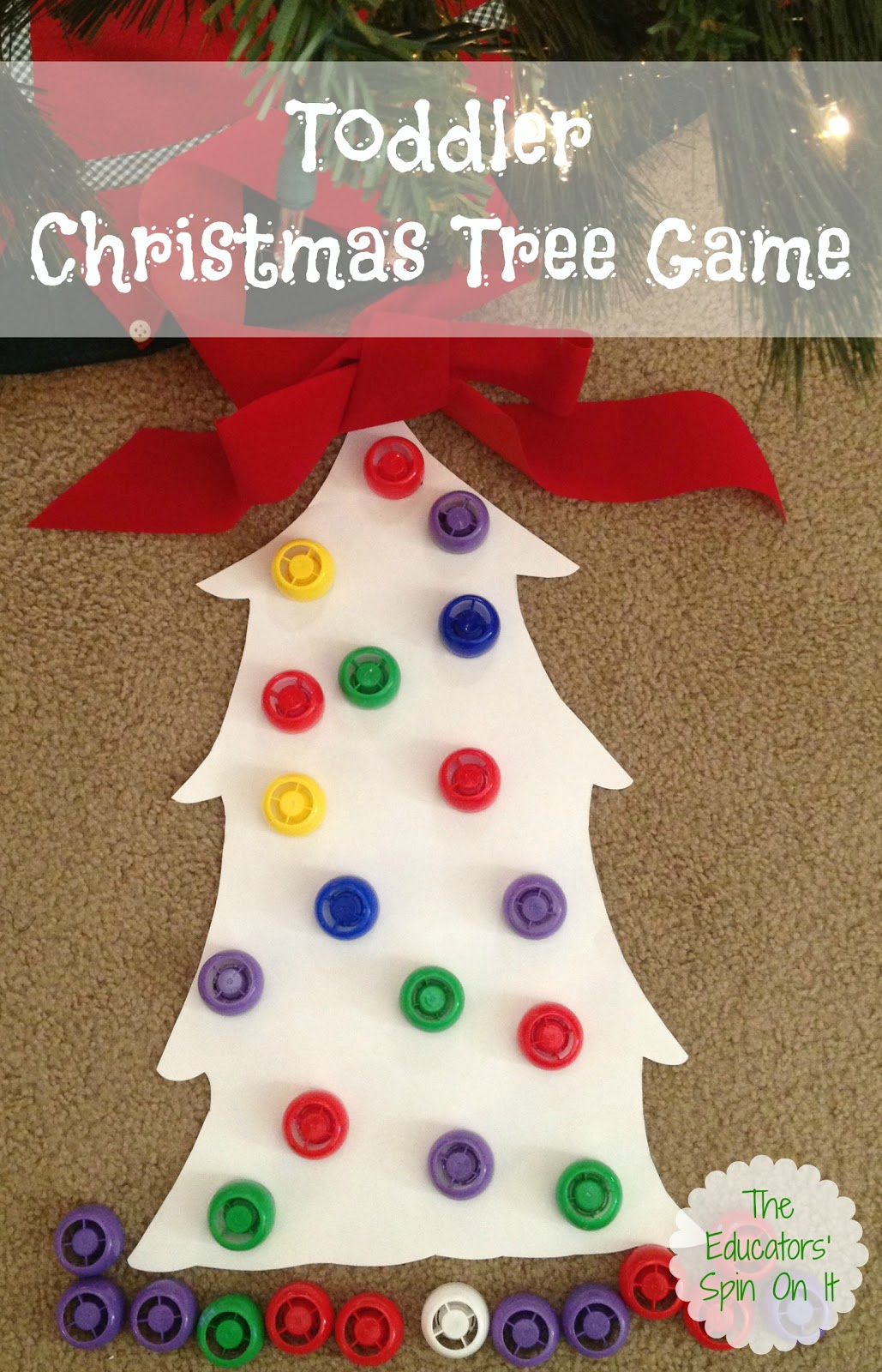 preschool christmas game the educators spin on it tree with lids 227