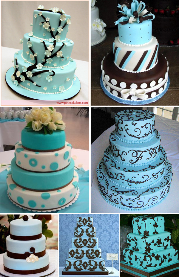 blue wedding cake decorations