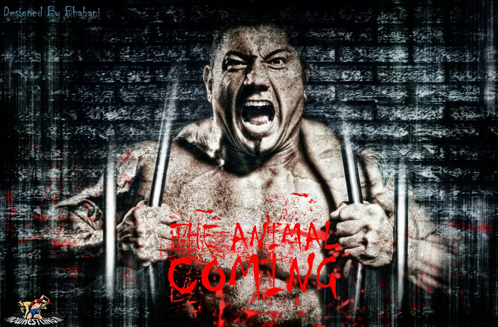 "Download » Batista 2014 Return ""The Animal Coming"" HQ Wallpaper - Designed By Bhabani (+ 3D)"
